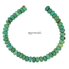 "7.8"" Genuine Chinese Turquoise Rondelle Beads 8mm Greenish Blue #82205"