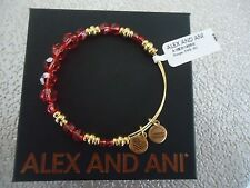 Alex and Ani ROUGE SWAROVSKI Shiny Gold Beaded Bangle New W/ Tag Card & Box