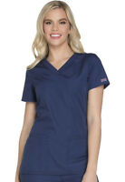 Scrubs Cherokee Workwear V Neck Top WW645 NAVW Navy Free Shipping