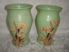 MATCHED PAIR BRENTLEIGH WARE CROMA ART DECO VASES