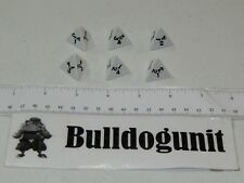 2007 Dicecapades Board Game Replacement All 6 White Pyramid Dice Parts Only