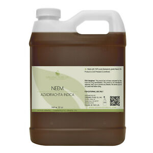 32 oz Neem oil 100% pure virgin organic cold pressed vegan non-gmo diy skin face
