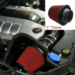 """Universal 3"""" 76mm Car Truck SUV High Flow Round Cone Intake Air Filter Alloy"""
