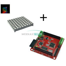Full-Color RGB 8x8 LED+Colorful Magic Matrix Driver shield Colorduino DIY Kits