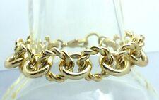 Wide Link Bracelet A40) J. Crew Gold-tone