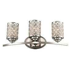 3-Light Polished Chrome Vanity Light by  Bel Air Lighting