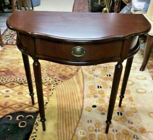 The Bombay Company Wood Demilune Console Hall Table
