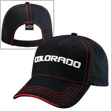 Chevrolet Chevy Colorado Black and Red Cotton Sandwich Brim Hat
