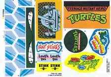 STICKER / LABEL SHEET VINTAGE PLAYMATES TEENAGE MUTANT NINJA TURTLES PARTY WAGON