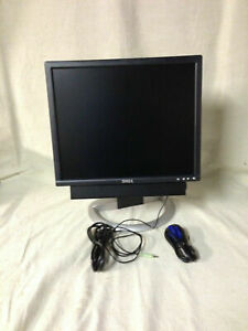 Dell 1901FP Monitor W/ SOUND BAR VGA & POWER CORDS GOOD CONDITION READ DETAILS