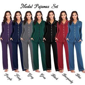 Modal Cotton Women Pajamas Set 2 Piece Set Women Sleepwear Pj Sets Pyjamas Set