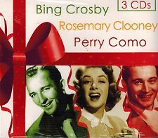 BING CROSBY-ROSEMARY CLOONEY-PERRY COMO - CHRISTMAS - NEW SEALED 3 CD SET
