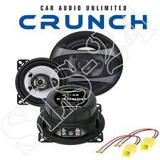 Crunch gti42 2 vie 100w altoparlanti 10 cm + FIAT PUNTO (188) Adattatore LSP Posteriore Set