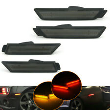 Smoked Lens LED Side Marker Front &Rear Set For 2010-2015 Chevy Camaro Chevrolet
