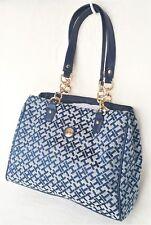 TOMMY HILFIGER Bag Shoulder Bag Handbag Purse SHOPPER  Navy Blue Retails $85