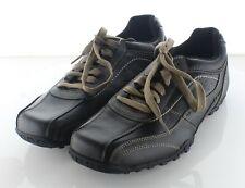 Z45 NEW $69 Men's Sz 11 M Skechers Citywalk Elison Leather Lace Up Shoe In Black