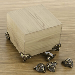 8x Vintage Box Feet Decoration Jewelry Case Leg Corner Protector Furniture Decor