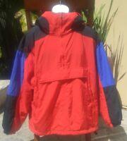 GAP Men's Red Black Ski Snowboard Winter Hooded 1/4 Zip Jacket Coat Sz Large L
