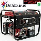 Portable Petrol Generator 6000W-E ~ 3.4 KVA 8HP ~ Quiet Power Electric Key Start <br/> ✅ELECTRIC KEYSTART ✅RECOIL START BACK UP✅£259.99✅UK/IRE