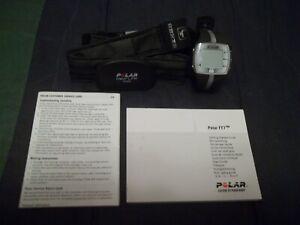 Grey Polar Heart Rate Monitor Watch + Strap + Paperwork - UNUSED w/film on watch