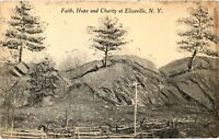 Vintage Postcard - Posted Faith Hope And Charity At Elizaville New York #3359