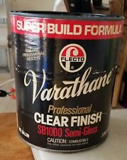 Varathane clear wood finish, one gallon, semi gloss