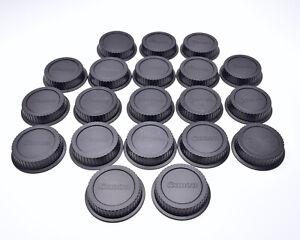 Canon EOS Rear Lens Cap Lot Qty-20 Dust Cap E EF EF-S Mount Lenses (#T1653)
