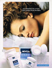 PUBLICITE ADVERTISING 025  1990  NIVEA VISAGE 3  cosmétique creme