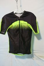 Louis Garneau Tri Course M-2 Trialon Jersey Men's Medium Black/Bright Yellow