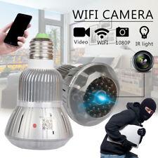 Wireless Security Camera Hidden Light Bulb 1080P HD DVR Infrared Night Vision
