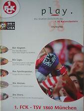 Program 1997/98 1. Fc Kaiserslautern - 1860 München