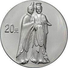 20 Yuan 2004 - China - Grotten des Maijishan - 2 oz Silber - Rar !!