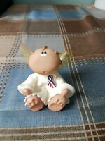 Angel Cheeks with Ribbon- Patriotic Red White Blue Ribbon -Kirk's Kritters  2001