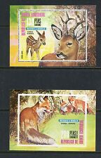 H991  Equatorial Guinea  1976    fauna deer fox  sheets   MNH