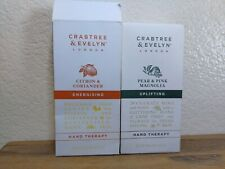 Crabtree & Evelyn London Hand Therapy Lotion Lot of 2 Energising Uplifting NEW