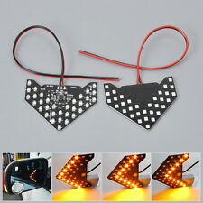 2x 33 LED Arrow Panel Car Side Mirror Turn Signal Indicator Flash Light 12V