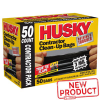 50 PACK Garbage Trash Bags 42 Gallon Contractor Plastic Bag Heavy Duty Black NEW