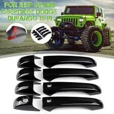 8pcs Set Door Handle Cover For Jeep Grand Cherokee Dodge Durango 11-19
