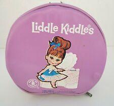 Vintage 1965 Little Liddle Kiddles Zippered Carrying Case Wristlet Purple Mattel