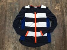 Oui MOMENTS - navy, white & orange stripe cardigan - 10