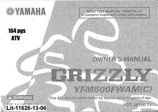 Yamaha Owners Manual Book 2000 Grizzly 600 YFM600FWAM{C)