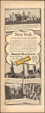 1948 Vintage ad for Beech-Nut Gum Retro package New York Photos  (112017)