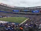 NY Giants vs Carolina Panthers 10/24/21 (2) E Tix - Sec 123, Row 32, W/Parking