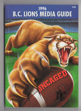 1996 BC Lions Media Guide CFL