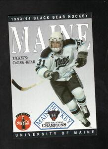 Maine Black Bears--1993-94 Hockey Pocket Schedule--Coke
