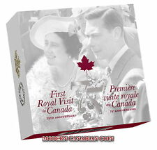 CANADA 2014 $25 FINE SILVER COIN- 75th ANNIVERSARY OF THE FIRST ROYAL VISIT
