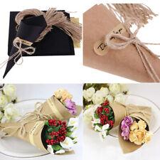 50/100X Vintage Kraft Paper Cone Bouquet Flower Decoration Wedding Party Gift