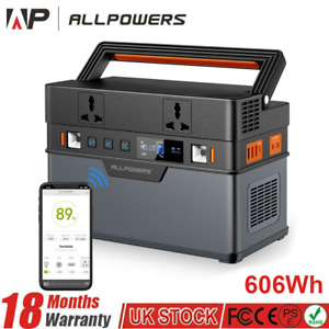 606Wh Portable Solar Power Station Pure Sine Wave Generator for Outdoor Camping
