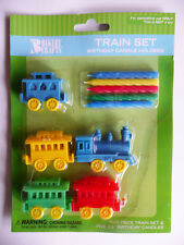 Train Candle Holders Cake Topper Birthday Decorations Party Supplies Favors