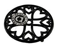 Round Kitchen Cast Iron Pot Stand Trivet Casserole Holder Table Protector Black